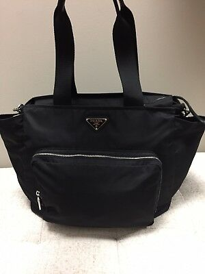 NWOT Authentic Prada Tessuto Nero (Nylon & Black) Baby Diaper Bag