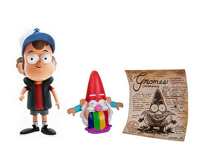 """Disney Barfing Gnome & Dipper Pines Gravity Falls 2 Pack Loose 3"""" Action Figure"""