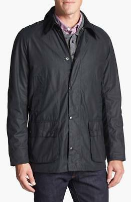 Barbour Ashby Regular Fit Waterproof Waxed Jacket Men's Black Size Small