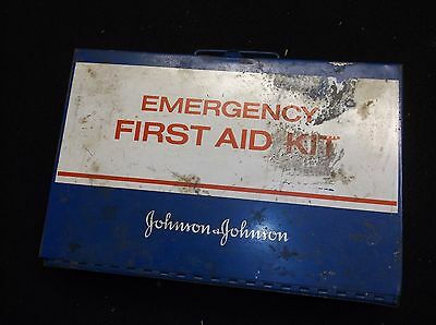 Vintage Johnson Johnson Emergency First Aid Kit