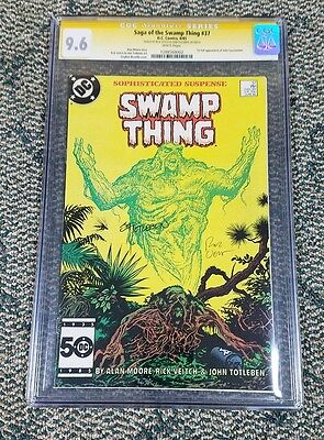 Saga of the Swamp Thing #37 CGC 9.6 SS Veitch Totleben Signed 2x 1st Constantine