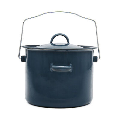 Enamel Black Billy Can Steel Glaze Canister Cooking Camping Outdoor-Indoor Brew