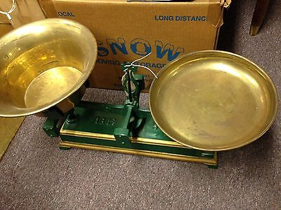 Antique Brass & Cast Iron Force 5 Kilo Balance Scale