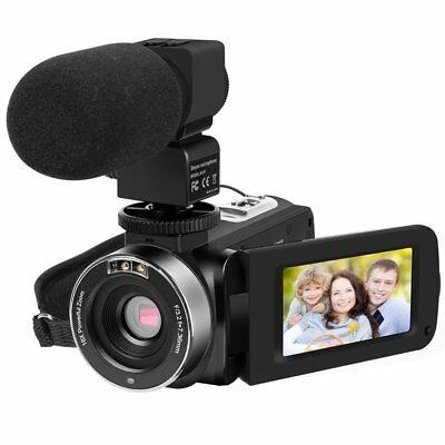 HDV-301 Digital Camera Full HD 1080P Video Camcorder 24MP + External Microphone