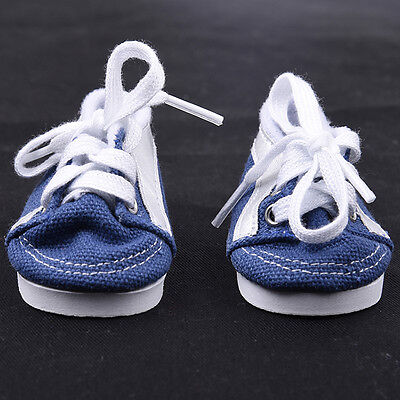 Handmade Doll Blue Canvas Shoes for 18 inch Doll Baby Toys Shoes.-