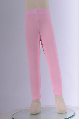 Girls Baby Pink Leggings, Girl's Active Acro Ballet Dance Skating Tap Yoga Wear