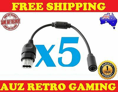 5x Breakaway Cable Adapter Connector Cord for ORIGINAL XBOX Controller Gamepad