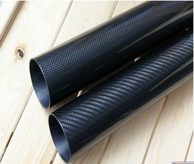 OD 46mm ID 44mm x 1000mm 3K Roll Wrapped Carbon Fiber Tube 46*44 Composite pipe