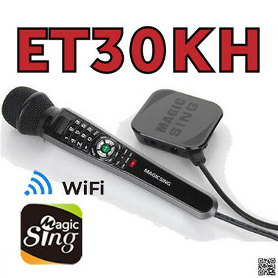 Magic Sing ET30KH WiFi Karaoke Mic 12K and 1 Year free 220K International songsP