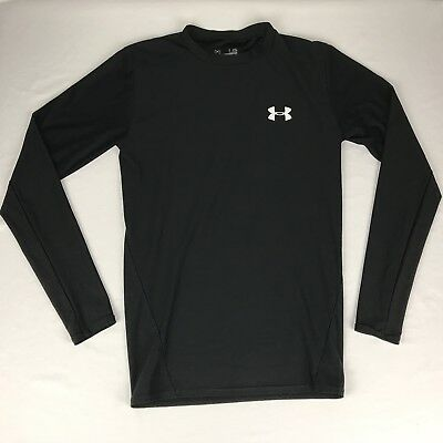 Men's Large Heatgear Compression Black Long Sleeve Shirt Under Armour