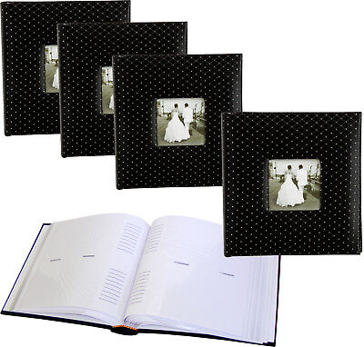 4 x Black Diamond 6x4 slip-in 200 photo albums with window * FOUR PACK