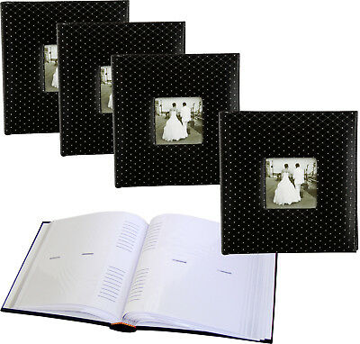 4x Black Diamond 6x4 slip-in 200 photo albums with window * FOUR PACK