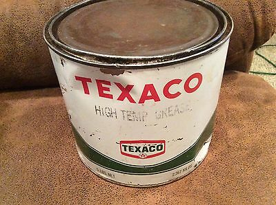 Vintage 5 lb. Texaco High Temp Grease Tin 1968