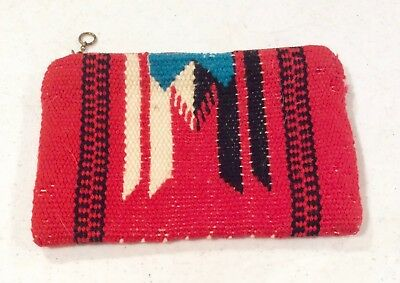 Chimayo Purse Clutch Fred Harvey Era Vintage Red Wool New Mexico Native