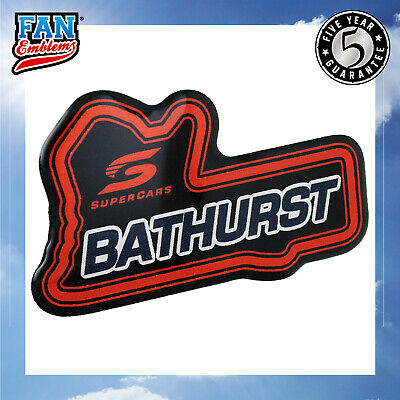 Supercars Bathurst Circuit Logo Car Decal Domed Sticker Emblem Auto Accessories