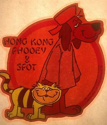 Vintage 1976 Hong Kong Phooey & Spot by Hanna Barbera Iron-On Transfer RARE!