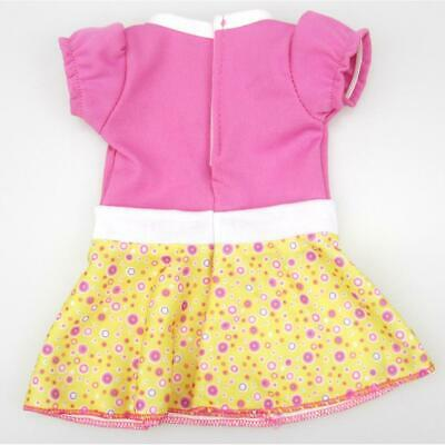 "Fashion Puff Sleeve Yellow Skirt Dress Clothes for 18"" American Girl Dolls"