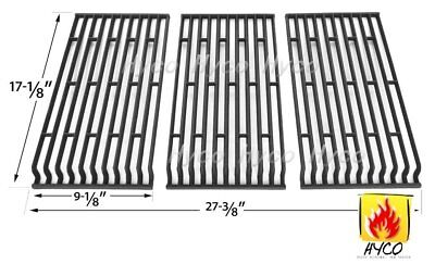 Matte Cast Iron Cooking Grid Replacement for Select Fiesta Gas Grill Models Set of 3