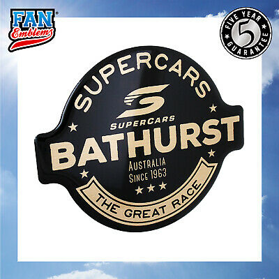 Supercars Bathurst 1963 Premium Logo Car Decal Domed Sticker Emblem Accessories