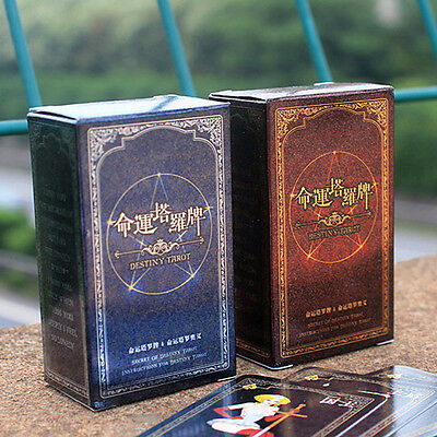 72pcs Destiny Tarot Fortune Telling Cards Table Games Funny Toys Tool Set Gifts.