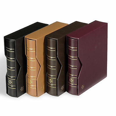 Lighthouse Classic Optima Leather Coin,Stamp & Banknote Album Slipcase - BLACK