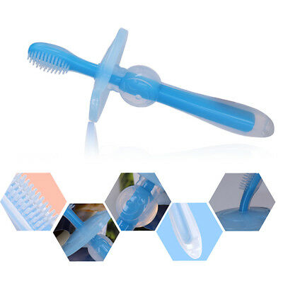 Hot Infant Soft Oral Teeth Solid Toothbrush Silicone Baby Children Dental Care