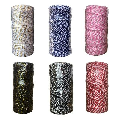 6 Colors Choose 100m Cotton RopeBraided Cotton Macrame Rope Craft Cord