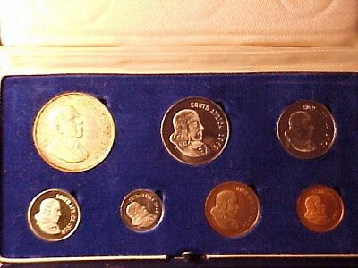 South Africa 7-Coin Proof Set 1969 Nice In Case With Silver Rand Coin