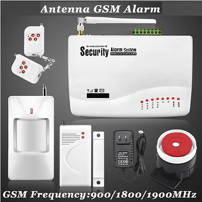 Wireless Wired GSM SMS Auto-dial Burglar Alarm Security System for Home Office