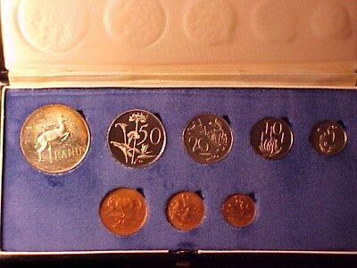 South Africa 8-Coin Proof Set 1978 Nice In Case With Silver Rand Coin