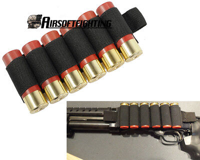 Tactical 6 Round Shotgun Shell Holder Card Strip with Adhesive Back for 12 Gaug
