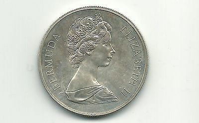 Bermuda 1972 One Dollar Proof  Silver Coin (142/3)