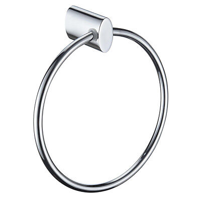 Bristan CR SHXDIVFF C Oval Solid Brass Towel Ring - Chrome Plated