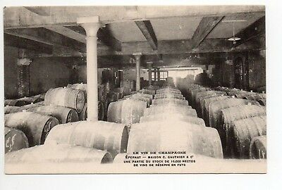 CHAMPAGNE CPA 51 Vins Vignes EPERNAY Caves C. GAUTHIER stock reserve futs