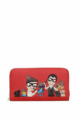 "Brieftasche Dolce&Gabbana "" patch d&g family ""  Damen - Leder (BI0473AI079)"