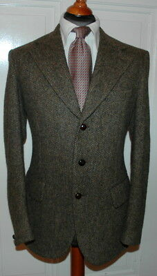 ORG. HARRIS TWEED * HANSWOVEN  by  THE CRAFTERS DUNN & Co.* GREAT BRITAIN  SAKKO