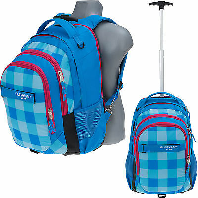 Trolley ELEPHANT HERO SIGNATURE Schulrucksack Schultrolley Trolly 12610 AQUA