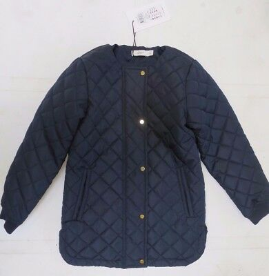 Girls coat jacket DESIGNER NAME IT age 5 6 7 8 9 10 11 12 years navy NEW
