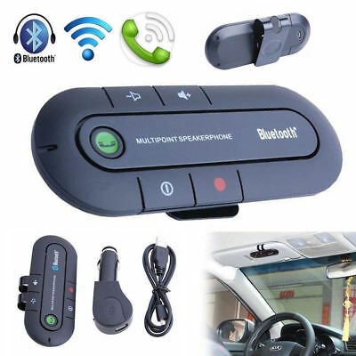 New Magnetic Bluetooth Hands free In Car Wireless Speaker Phone Kit Visor Clip