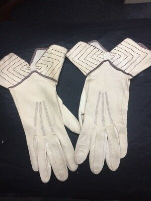 Beautiful Art Deco 1930s Leather Gloves