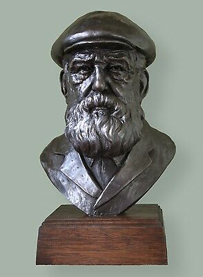CC Bronze bust of Scottish Golf Legend Old Tom Morris. Limited editionof 75