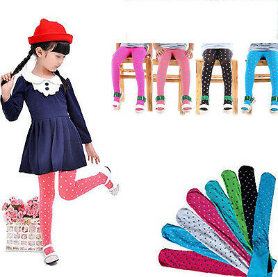 New Girls Kids Footed  Stockings Leggings Ballet  Solid Candy Colors
