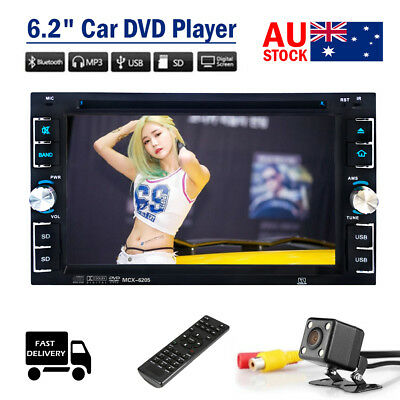 "6.2"" 2din Car DVD CD Audio Video Player Stereo Map/GPS/Radio Reverse Camera AU"