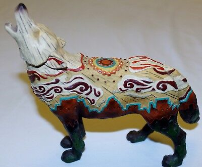 CALL OF THE WOLF PUEBLO WOLF RARE RESIN FIGURINE #14122 by WESTLAND GIFTWARE
