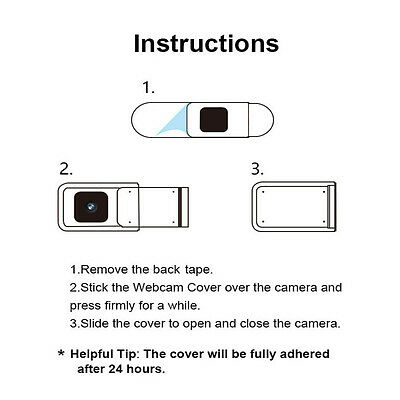 1PC Round Webcam Camera Protector Cover Shield For PC Tablet  Laptop Smartphone