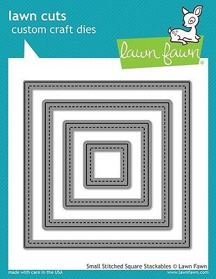 Lawn Fawn Die - Small Stitched Square Stackable