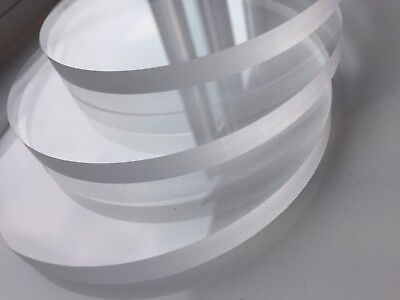 Clear Acrylic, Perspex, plastic Discs, 12mm Thick