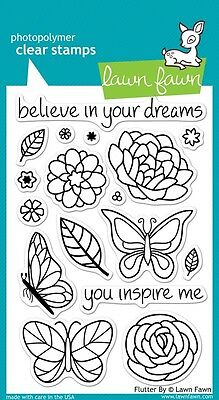 Lawn Fawn Die & Stamp Set - Flutter By