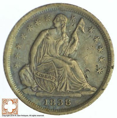 1838 Seated Liberty Silver Half Dime *XB68