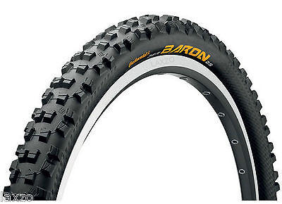 "Continental Enduro Baron 26 x 2.3""Mountain Bike Downhill Rigid Wired Tyre Black"
